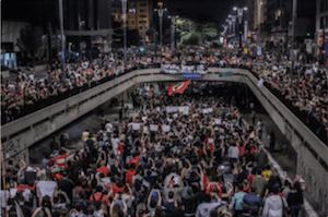 Protesta en Av. Paulista. Crédito: Mídia NINJA