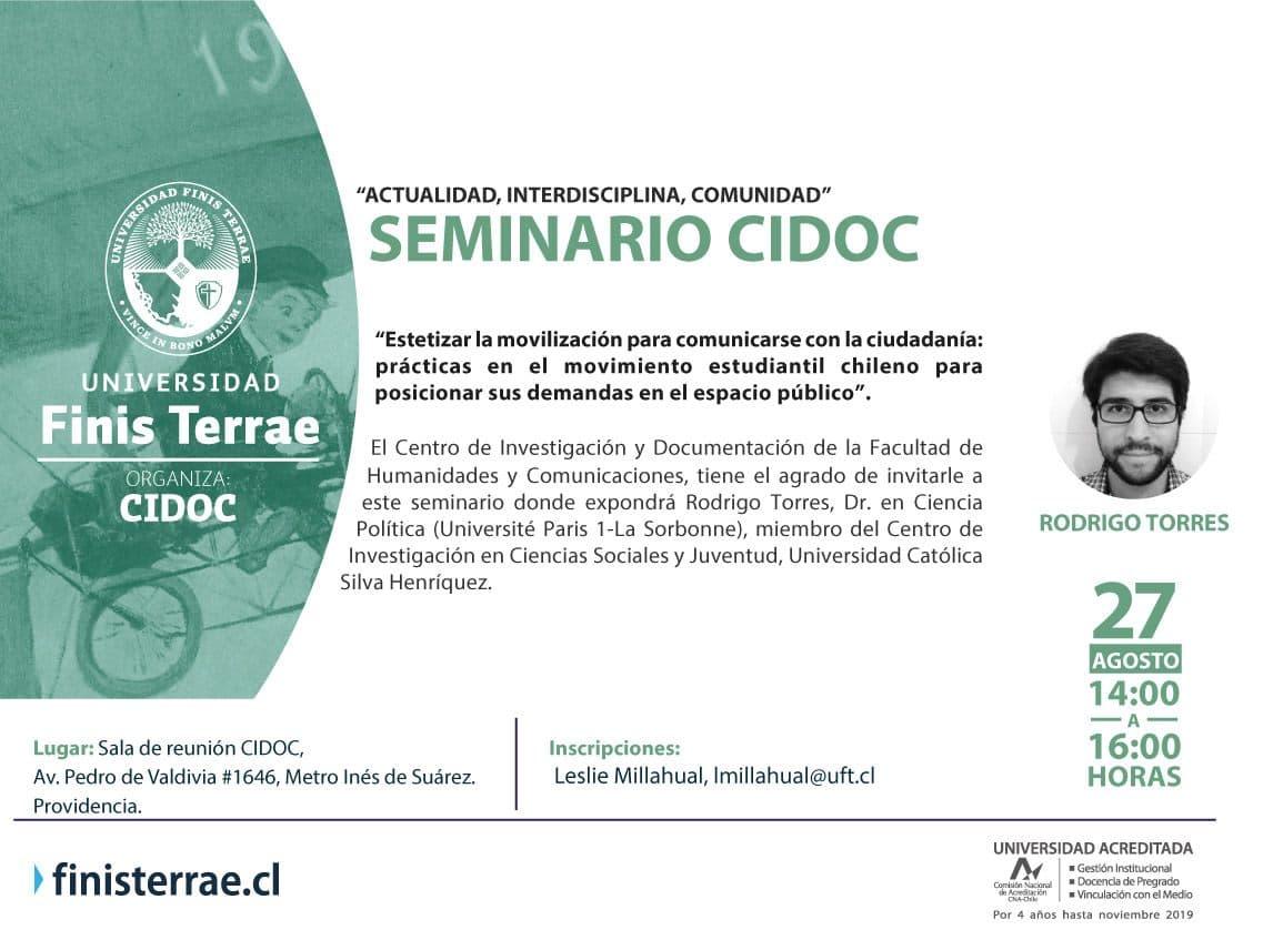 Seminario CIDOC. Actualidad, Interdisciplina, Comunidad