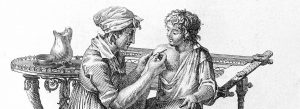 Escena história de vacunación