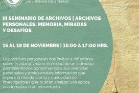 Afiche III Seminario de Archivos CIDOC