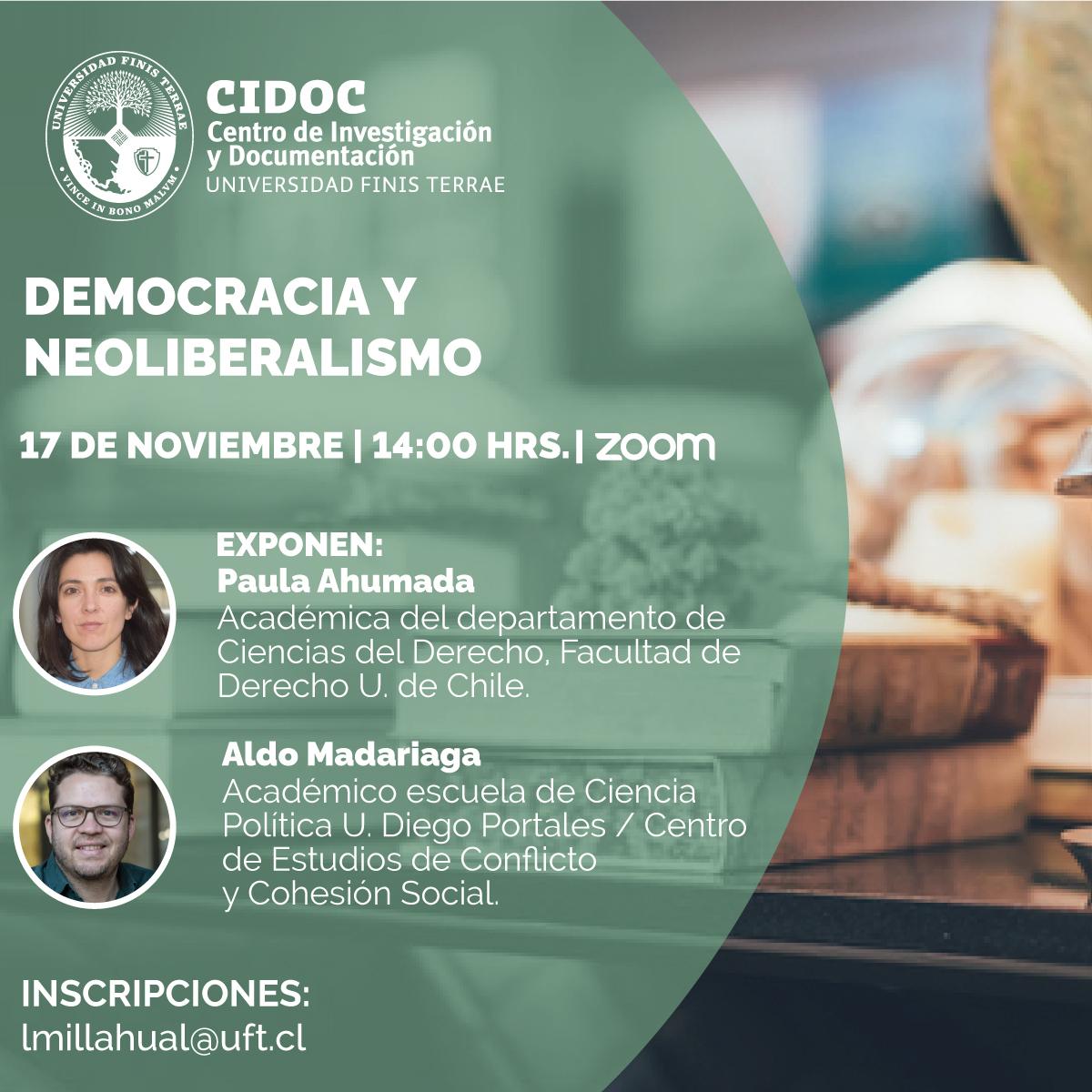 Seminario CIDOC: Democracia y Neoliberalismo