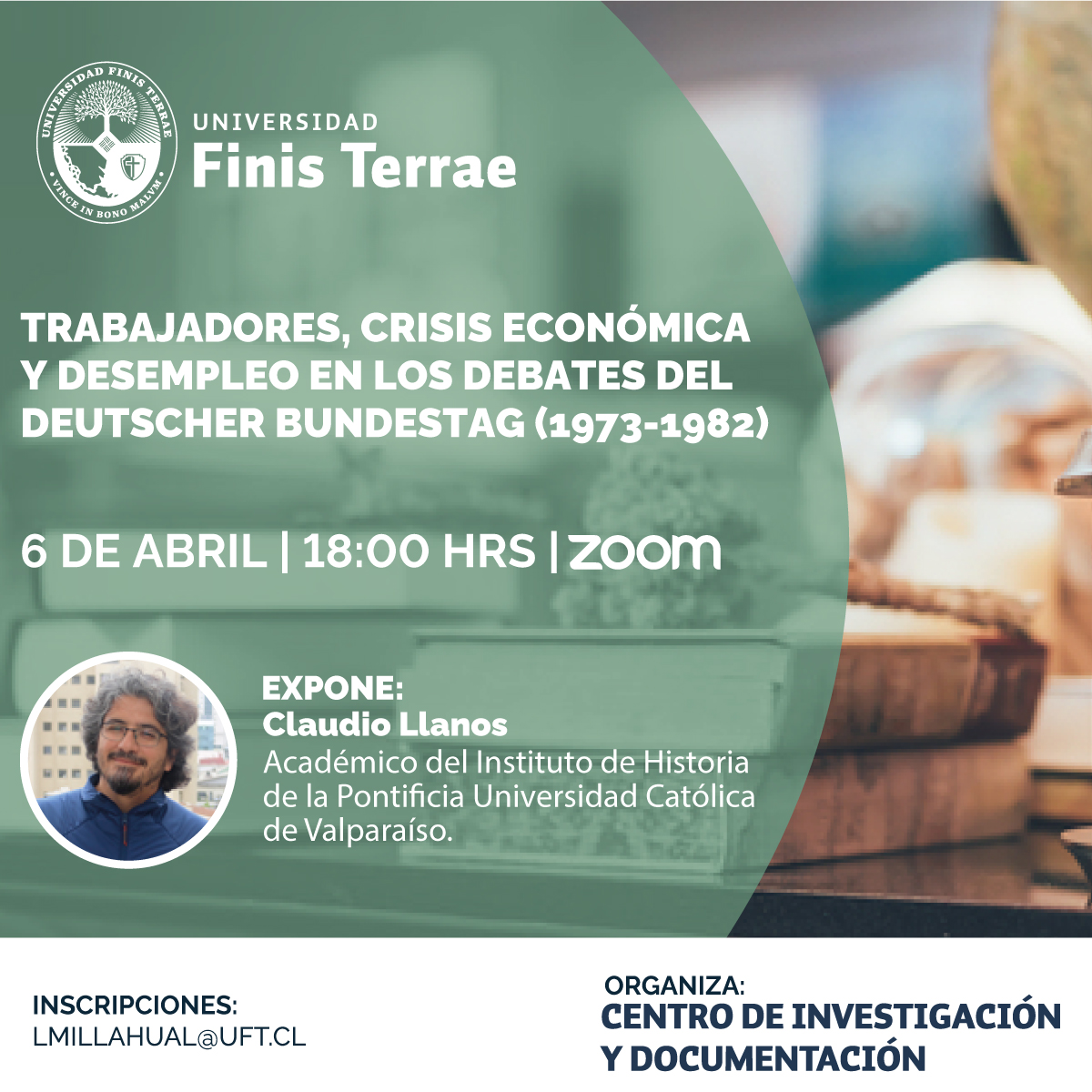 Seminario CIDOC 6/4/21: Claudio Llanos (PUCV)